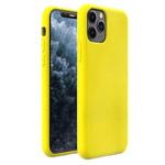 Чехол Yotrix LiquidSilicone для Apple iPhone 11 pro max (лимонный, гелевый)