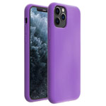 Чехол Yotrix LiquidSilicone для Apple iPhone 11 pro max (сиреневый, гелевый)