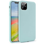 Чехол Yotrix LiquidSilicone для Apple iPhone 11 pro max (мятный, гелевый)