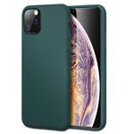 Чехол Yotrix LiquidSilicone для Apple iPhone 11 pro max (темно-зеленый, гелевый)
