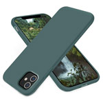 Чехол Yotrix LiquidSilicone для Apple iPhone 11 (темно-зеленый, гелевый)