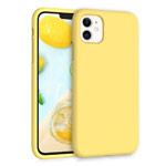 Чехол Yotrix LiquidSilicone для Apple iPhone 11 (желтый, гелевый)