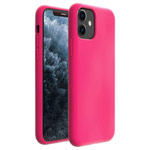 Чехол Yotrix LiquidSilicone для Apple iPhone 11 (малиновый, гелевый)