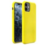 Чехол Yotrix LiquidSilicone для Apple iPhone 11 (лимонный, гелевый)