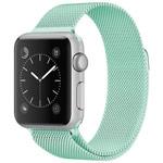 Ремешок для часов Yotrix Milanese Band для Apple Watch 38/40 мм (бирюзовый, стальной)