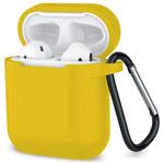 Чехол Synapse Buckle Case для Apple AirPods (желтый, силиконовый)