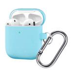 Чехол Synapse Buckle Case для Apple AirPods (голубой, силиконовый)