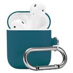 Чехол Synapse Buckle Case для Apple AirPods (темно-зеленый, силиконовый)
