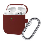 Чехол Synapse Buckle Case для Apple AirPods (темно-красный, силиконовый)