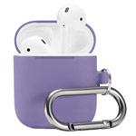 Чехол Synapse Buckle Case для Apple AirPods (темно-сиреневый, силиконовый)