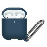 Чехол Synapse Leather Silicone для Apple AirPods (темно-синий, силиконовый)