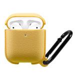 Чехол Synapse Leather Silicone для Apple AirPods (желтый, силиконовый)