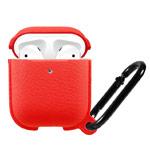 Чехол Synapse Leather Silicone для Apple AirPods (красный, силиконовый)