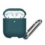 Чехол Synapse Leather Silicone для Apple AirPods (темно-зеленый, силиконовый)