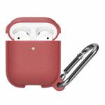 Чехол Synapse Leather Silicone для Apple AirPods (бледно-красный, силиконовый)