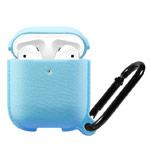 Чехол Synapse Leather Silicone для Apple AirPods (голубой, силиконовый)