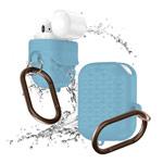 Чехол Synapse Waterproof Rhombus для Apple AirPods (голубой, силиконовый)