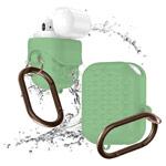 Чехол Synapse Waterproof Rhombus для Apple AirPods (зеленый, силиконовый)