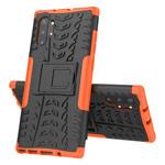 Чехол Yotrix Shockproof case для Samsung Galaxy Note 10 plus (оранжевый, пластиковый)