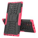 Чехол Yotrix Shockproof case для Samsung Galaxy Note 10 plus (розовый, пластиковый)