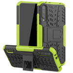 Чехол Yotrix Shockproof case для Xiaomi Mi A3 (зеленый, пластиковый)