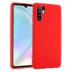Чехол Yotrix LiquidSilicone для Huawei P30 pro (красный, гелевый)