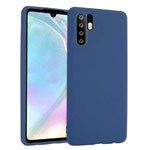 Чехол Yotrix LiquidSilicone для Huawei P30 pro (темно-синий, гелевый)