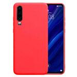 Чехол Yotrix LiquidSilicone для Huawei P30 (красный, гелевый)