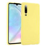Чехол Yotrix LiquidSilicone для Huawei P30 (желтый, гелевый)