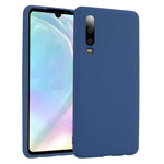 Чехол Yotrix LiquidSilicone для Huawei P30 (темно-синий, гелевый)