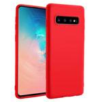Чехол Yotrix LiquidSilicone для Samsung Galaxy S10 plus (красный, гелевый)