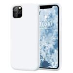 Чехол Yotrix LiquidSilicone для Apple iPhone 11 pro (белый, гелевый)