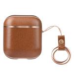 Чехол Hoco Leather Case для Apple AirPods (коричневый, кожаный)