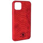 Чехол Santa Barbara Knight для Apple iPhone 11 pro max (красный, кожаный)