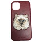 Чехол Santa Barbara Savanna для Apple iPhone 11 (красный, кожаный)