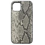 Чехол Kajsa Dale Glamorous Snake 2 для Apple iPhone 11 (серый, кожаный)