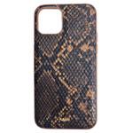Чехол Kajsa Dale Glamorous Snake 2 для Apple iPhone 11 (коричневый, кожаный)