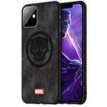 Чехол Marvel Avengers Leather case для Apple iPhone 11 (Black Panther, матерчатый)