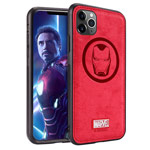 Чехол Marvel Avengers Leather case для Apple iPhone 11 pro (Ironman, матерчатый)