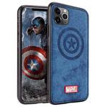 Чехол Marvel Avengers Leather case для Apple iPhone 11 pro max (Captain America, матерчатый)
