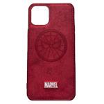 Чехол Marvel Avengers Leather case для Apple iPhone 11 pro max (Spider-Man, матерчатый)