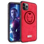 Чехол Marvel Avengers Leather case для Apple iPhone 11 pro max (Ironman, матерчатый)