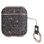 Чехол Hoco Shiny Case для Apple AirPods (черный, кожаный)