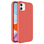 Чехол Yotrix LiquidSilicone для Apple iPhone 11 (кораловый, гелевый)