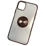 Чехол Yotrix GlitterSoft Ring для Apple iPhone 11 (бронзовый, гелевый)