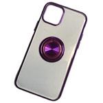 Чехол Yotrix GlitterSoft Ring для Apple iPhone 11 (фиолетовый, гелевый)