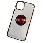 Чехол Yotrix GlitterSoft Ring для Apple iPhone 11 pro (красный, гелевый)