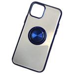 Чехол Yotrix GlitterSoft Ring для Apple iPhone 11 pro max (синий, гелевый)