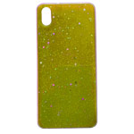 Чехол Yotrix GlitterFoil Case для Xiaomi Redmi 7A (желтый, гелевый)
