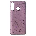 Чехол Yotrix GlitterFoil Case для Samsung Galaxy A30 (розовый, гелевый)